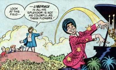 5 Famous Characters The World Saw Differently 20 Years Ago - Archie meeting Liberace in a Christian comic