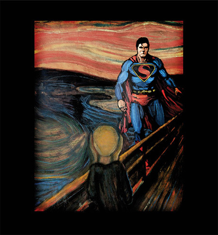 2 Cracked Shirts for Superman Fans