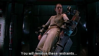 You will remove these restraints...