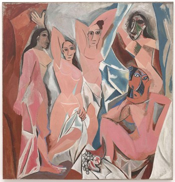 5 Historical Moments Starring Absolutely Random Famous People - Les Demoiselles d'Avignon
