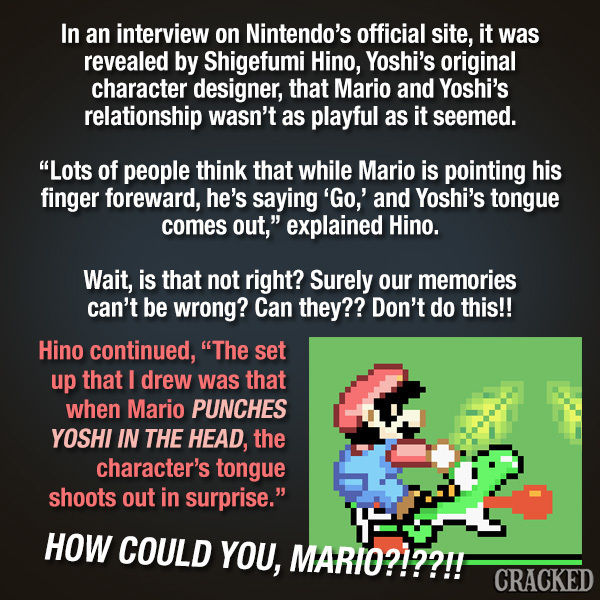 Mario Keeps Punching The Crud Out Of Yoshi