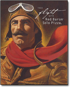 flrt TAKE WITH Red Baron Solo Pizza.