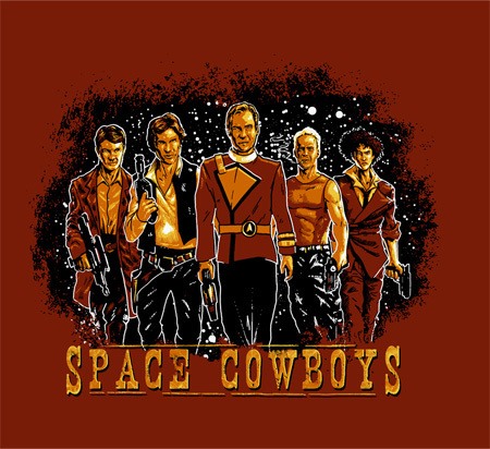 2 New Shirts: Han Solo's Space Cowboys and Mario's Prestige