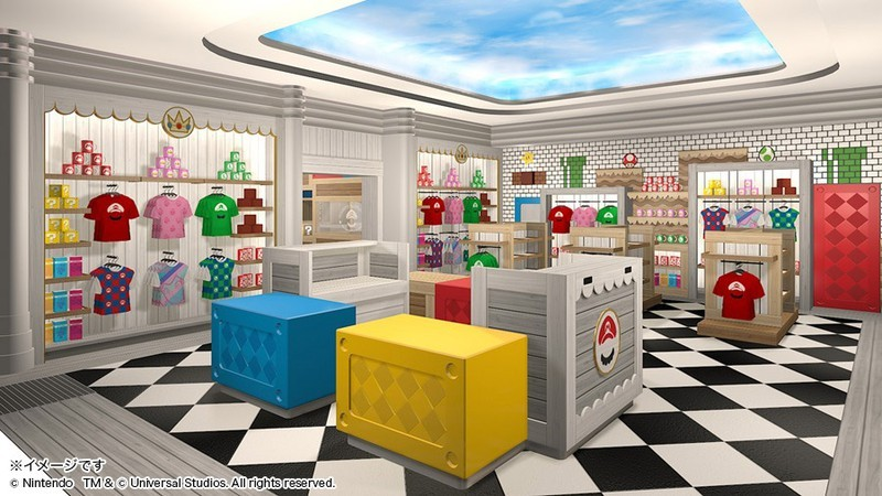 Japan's Super Mario Theme Park Looks Adorable (But Needs More Waluigi) - concept art for Super Nintendo World's Mario Store and Cafe