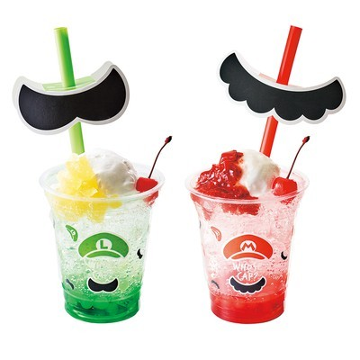 apan's Super Mario Theme Park Looks Adorable (But Needs More Waluigi) - moustache straws from Super Mario Land at Universal Studios Japan