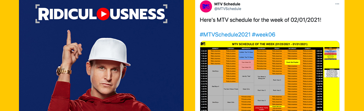 MTV Apparently Only Airs 'Ridiculousness' Now