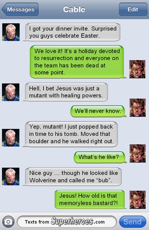 15 Texts from Last Night (From Famous Superheroes) Pt. 3