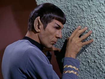 What if Vulcans just wore comfy shirts that said 'VULCAN' on them?