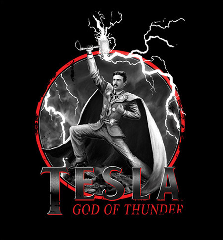 2 New Shirts for Thor, Tesla, and 'Neverending Story' Fans