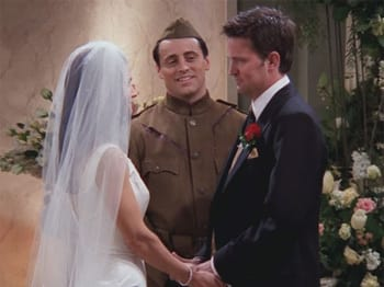 Which completely explains the way they both look at Chandler.