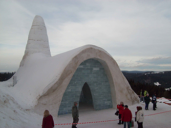 Nobody builds a snow fort like the Almighty.