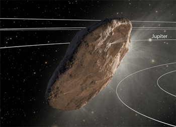 5 Facts About That Enigmatic Object That Invaded Our Solar System rendering of the oumuamua object