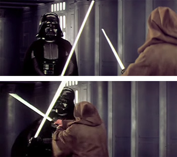 It's like the Star Wars Kid video, but sadder.