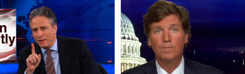 Why Jon Stewart And Tucker Carlson Aren't The Same