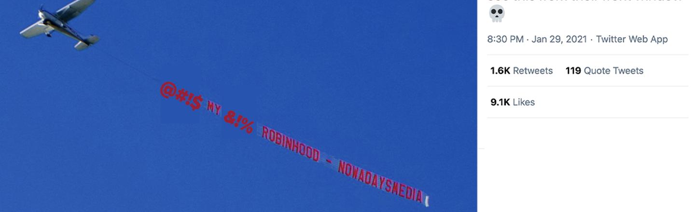 Reddit Stonks: Netizens Troll Securities Industry With Brutal Billboards, Airplane Banners