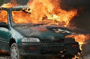 The Potato Chip That Destroyed The Bowels Of America - a car entirely on fire
