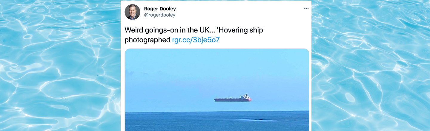 Floating Ship Appears Above English Coast