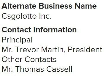 Ha, they misspelled TmarTn as Martin in their official filing.
