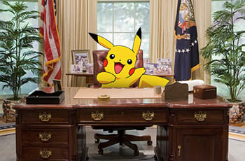 Or both. If you can come up with ways Pokemon would run the government, we would be <i>all about that.</i>