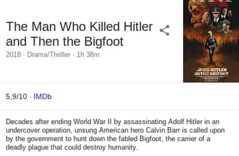 Behold, A Movie About A Guy Who Kills Hitler And Bigfoot