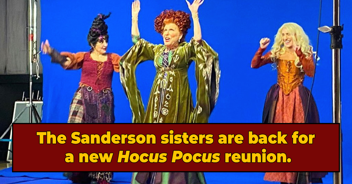 """The Sanderson Sisters Are Back In New """"Hocus Pocus"""" Reunion Pic"""