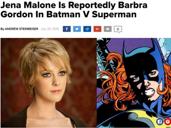 Jena Malone Is Reportedly Barbra Gordon In Batman V Superman By ANDREW STEINBEISER Jue 30 2015 f