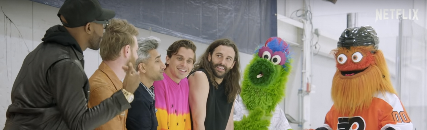 Queer Eye Tried To Give Gritty A Makeover; Now Do Furries, You Cowards