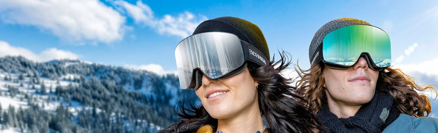These Mirrored Ski Goggles Have Built-in Headphones and Voice Control