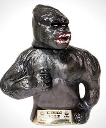 5 Stories That Prove King Kong Movies Were Fueled By Madness a King Kong Jim Bean whiskey bottle