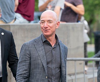 For several years in a row, Amazon paid no income taxes despite reporting astronomical earnings. That's right -- Jeff Bezos, the richest man in the world, paid zero taxes. He paid 0 taxes. That's as much as no taxes at all.