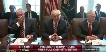 This Transcript Of Trump's Cabinet Meeting Really Stinks