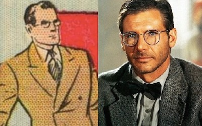 The Indiana Jones-Captain America Crossover Nobody Noticed - side-by-side image of Clark Kent and Indiana Jones