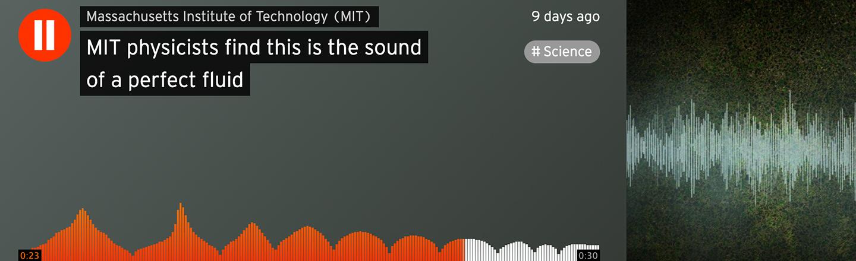Perfect Fluids Are Kind of A Banger, MIT's SoundCloud Shows