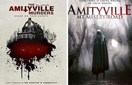 CON AMITYVILLE IN THESE WOODs The AMILYVILLE 11 MURDERS .. - > OOKNYN MT MISERYROAD DHT . 40.491409