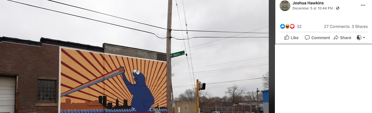 Communist Cookie Monster Mural Mystery Sparks Ire in Illinois