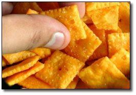 The secret pockets in our pants are filled with Cheez-its.