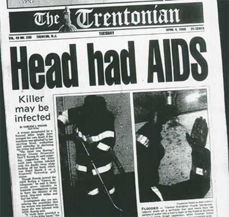 The Newspaper With The Most WTF Headlines In America - The infamous HEAD HAD AIDS headline in the Trentonian, a local newspaper in Trenton, New Jersey