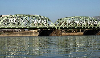 The Newspaper With The Most WTF Headlines In America - The Trenton Makes, The World Takes bridge in Trenton, New Jersey