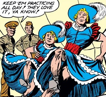 Captain America and Bicky crossdressing