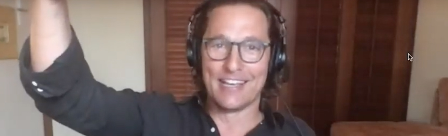 Matthew McConaughey on Political Divisiveness: 'Let's Get Aggressively Centric'