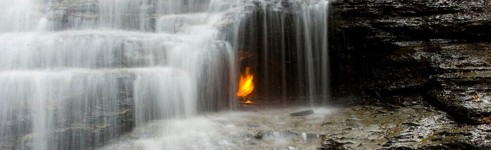 The Mystery Of New York's Eternal Flame (Trapped In A Waterfall)