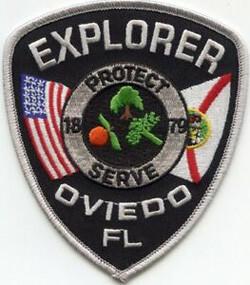 Oviedo Florida Police Explorer badge