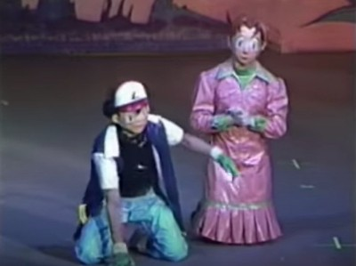 The Strange History of the Forgotten Pokemon Musical  masked actor as Ash and Delia in Pokemon Live