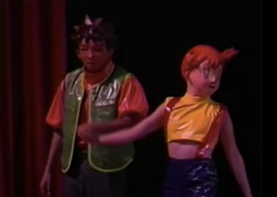 The Strange History of the Forgotten Pokemon Musical  masked actors as Brock and Misty in Pokemon Live