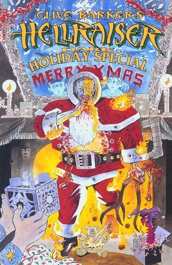 5 Famous Folks You Had No Clue Were Comics Nerds - the cover of Clive Barker's Hellraiser Holiday Special for Marvel Comics, written by the Wachowskis