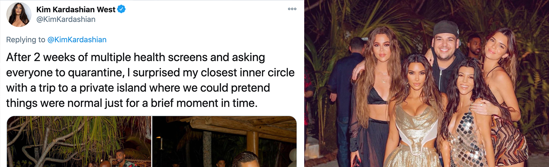 The Internet Roasts Kim Kardashian For Tone-Deaf 40th Birthday Party Post