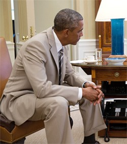 5 Huge Scandals That Now Seem Pretty Dumb In Retrospect Obama wearing a tan suit