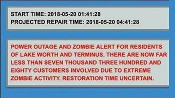 A City In Florida Keeps Receiving Zombie Alerts