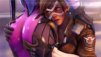 When Tracer grabs a woman's butt, <A TARGET=_blank HREF=https://www.washingtonpost.com/news/comic-riffs/wp/2016/12/23/the-wildly-popular-overwatch-says-a-main-character-is-gay-will-this-be-a-step-forward-for-video-games/?utm_term=.999d29efefb4>it means something</a>, dammit!