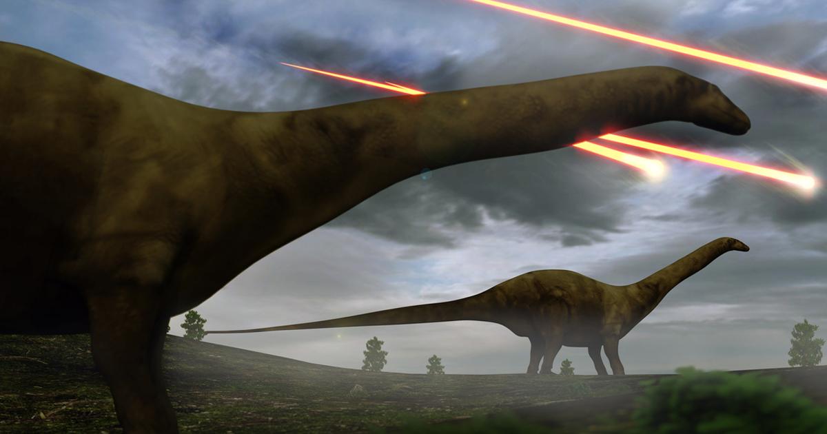 время динозавры и метеорит картинки всем этом пойдет